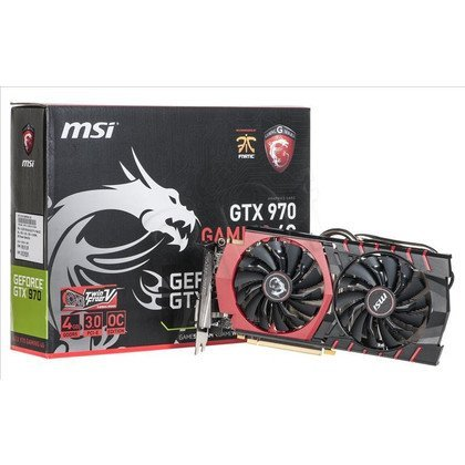 MSI GeForce GTX 970 4096MB DDR5/256bit DVI/HDMI/DP PCI-E (1279/7010) (wer. OC - Gaming)