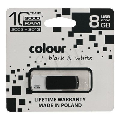 GOODRAM FLASHDRIVE 8192MB USB 2.0 BLACK&WHITE