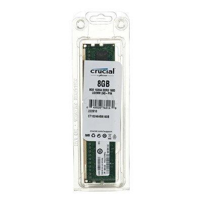 Crucial DDR3 UDIMM 8GB 1600MT/s (1x8GB) CT102464BA160B