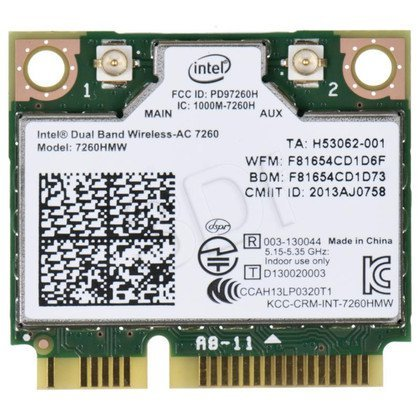 KARTA WI-FI INTEL DB WIRELESS-N 7260 2x2 AGN+BT HMC
