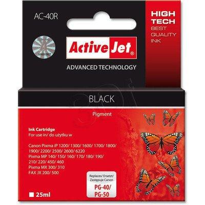 ActiveJet AC-40R tusz czarny do drukarki Canon (zamiennik Canon PG-40, Canon PG-50)