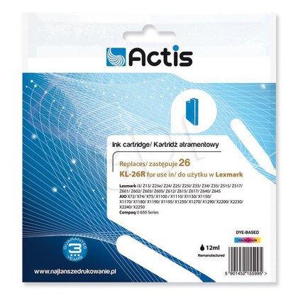 Actis KL-26R tusz trójkolorowy do drukarki Lexmark (zamiennik Lexmark 26 10N0026) Standard