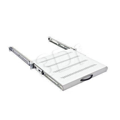 """Triton półka do szafy 19"""" RAC-UP-X20-A1 (1U, głębokość 550mm, maksymalna ładowność 45kg, kolor jasnoszary RAL 7035, wysuwana)"""