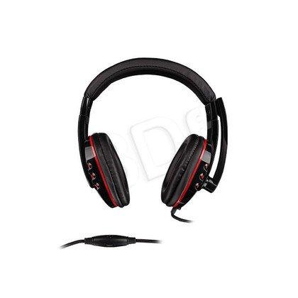 Słuchawki nauszne z mikrofonem Natec GENESIS H12 (Czarno-czerwony)