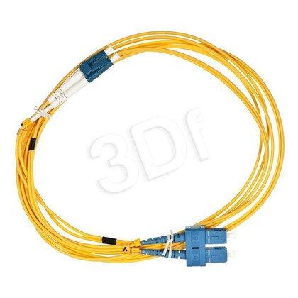 ALANTEC patchcord światłowodowy SM LSOH 3m LC-SC duplex 9/125 żółty