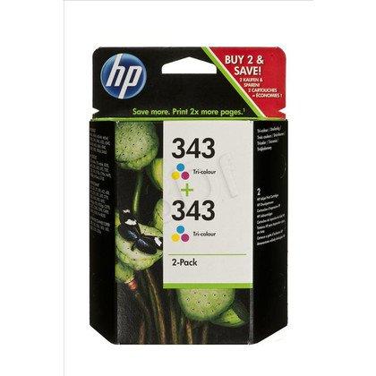 HP Tusz HP343x2=CB332EE, Zestaw 2xKolor, 2xC8766EE