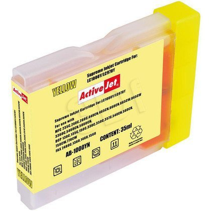 ActiveJet AB-1000YN (AB-1000Y) tusz yellow do drukarki Brother (zamiennik LC1000Y, LC970Y)