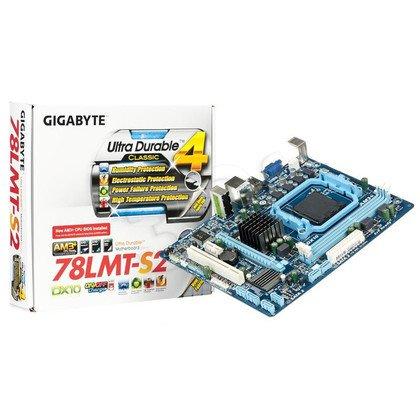 GIGABYTE GA-78LMT-S2 AMD 760G Socket AM3+ (PCX/VGA/DZW/GLAN/SATA/RAID/DDR3) mATX