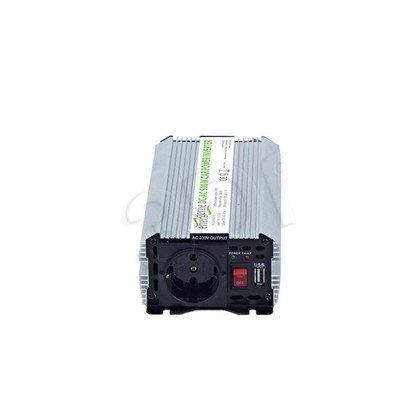 PRZETWORNICA SAMOCHODOWA 12V->230V 500W USB
