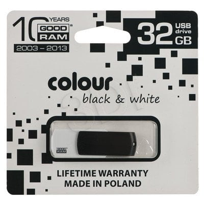 GOODRAM FLASHDRIVE 32GB USB 2.0 BLACK&WHITE