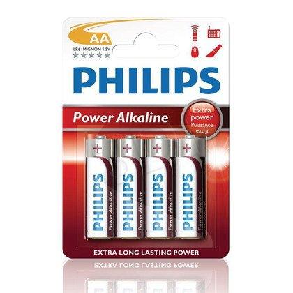 Bateria PHILIPS LR6P4B/10 AA POWER ALAKLINE ( Technologia alkaliczna idealna do urządzeń o dużym poborze energii )