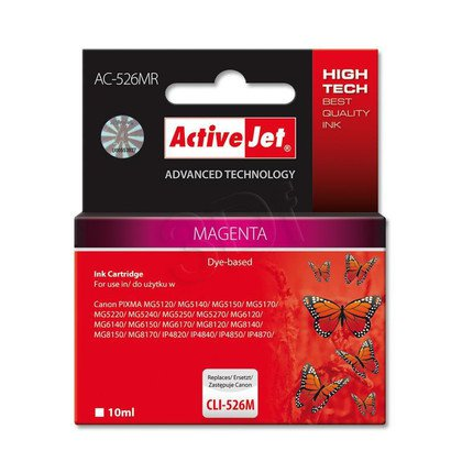 ActiveJet AC-526MR tusz magenta do drukarki Canon (zamiennik Canon CLI-526M) Premium/ chip