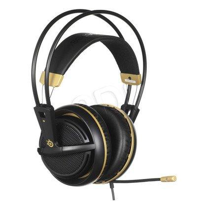 Słuchawki wokółuszne z mikrofonem Steelseries SIBERIA200 (Złoto-czarny)