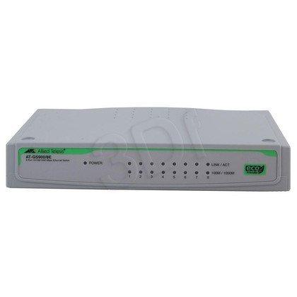 Allied Telesis Unmanaged (AT-GS900/8E) 10/100/1000TX, zew. zasilanie