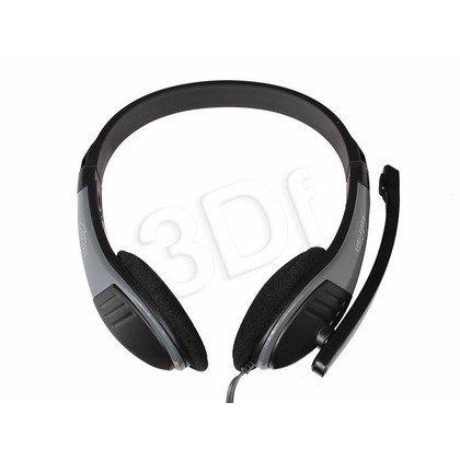 Słuchawki nauszne z mikrofonem Media tech MT3562 (Czarny)