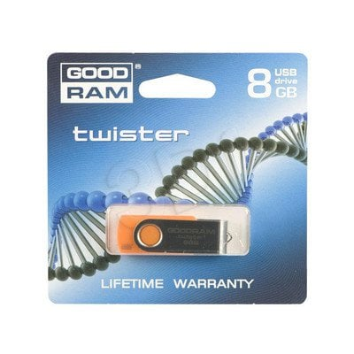 GOODDRIVE FLASHDRIVE 8192MB USB 2.0 TWISTER Orange