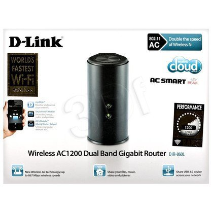 D-LINK DIR-860L Dual Band Gigabit Cloud AC1200