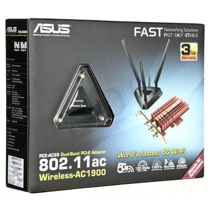 ASUS Karta sieciowa bezprzewodowa PCE-AC68 PCIe