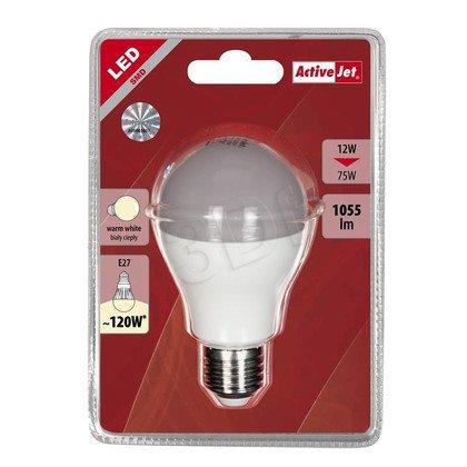 ActiveJet AJE-HS1055W Lampa LED SMD Globe 1055lm 12W E27 barwa biała ciepła