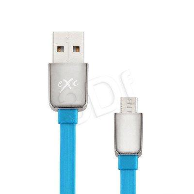 EXC UNIWERSALNY KABEL USB-MICRO USB, LINES, 2 METRY, NIEBIESKI