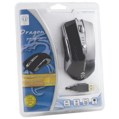 ESPERANZA MYSZ PRZEWODOWA DLA GRACZY DRAGON USB/6D/DPI 2400 EM122K CZARNA