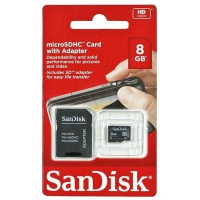 Sandisk SDSDQB-008G-B35 8GB Class 4 + ADAPTER microSD-SD