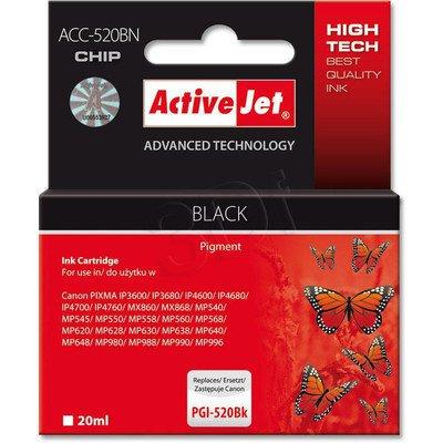 ActiveJet ACC-520Bk (ACC-520BN) tusz czarny do drukarki Canon (zam. PGI-520Bk) (CHIP)