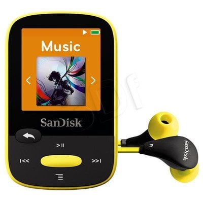 SANDISK MP3 SANSA CLIP SPORTS 4GB ŻÓŁTA