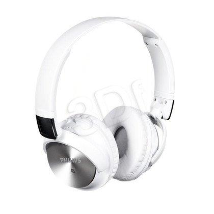 Słuchawki nauszne z mikrofonem Philips SHB3185WT/00 (Biało-srebrny Bluetooth,NFC)