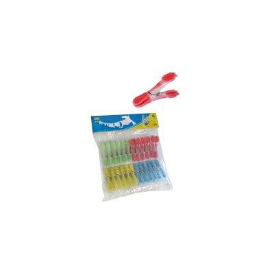 Klamerki do prania z silikonowymi końcówkami - 24 szt. (KDP01)
