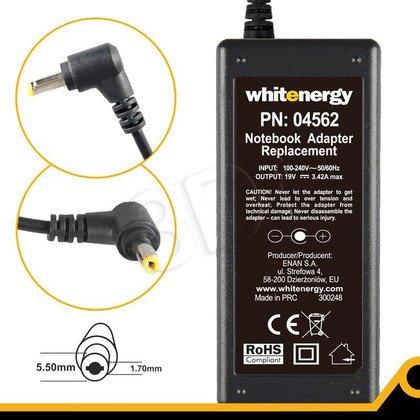 WHITENERGY ZASILACZ 19V/3.42A 65W wtyk 5.5x1.7 mm