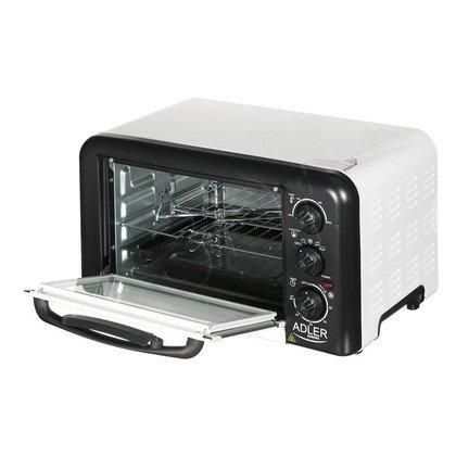 Mini Piekarnik ADLER AD 6009 (elektryczny/ 1500W/ biało- czarny)