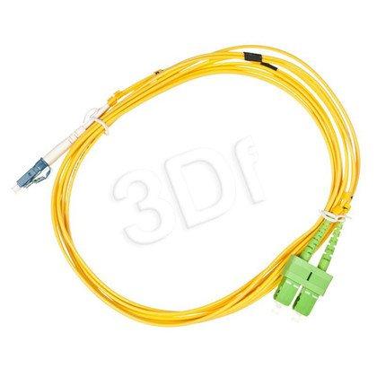 ALANTEC patchcord światłowodowy SM LSOH 3m SC/APC-LC duplex 9/125 żółty