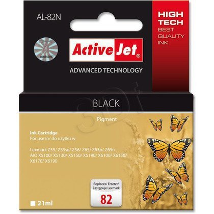 ActiveJet AL-82N tusz czarny do drukarki Lexmark (zamiennik Lexmark 82 18L0032E)