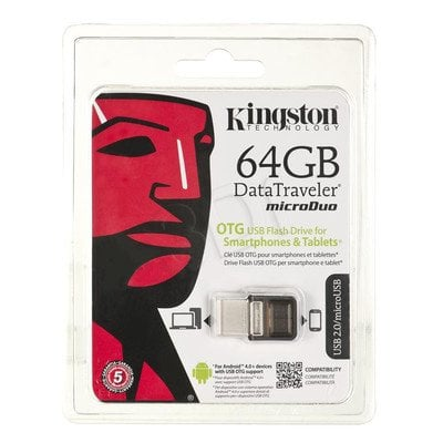 Kingston Flashdrive DataTraveler microDuo 64GB USB 2.0 Brązowy