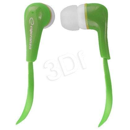 Słuchawki douszne Esperanza LOLLIPOP EH146G (Zielony)