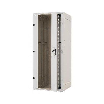"""Triton Szafa rack 19"""" stojąca demontowalna RZA-22-A81-CAX-A1 (22U, 800x1000mm, przeszklone drzwi, kolor jasnoszary RAL7035)"""