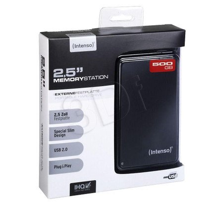 "HDD INTENSO 500GB 2,5"" MEMORYSTATION BLACK ZEW"
