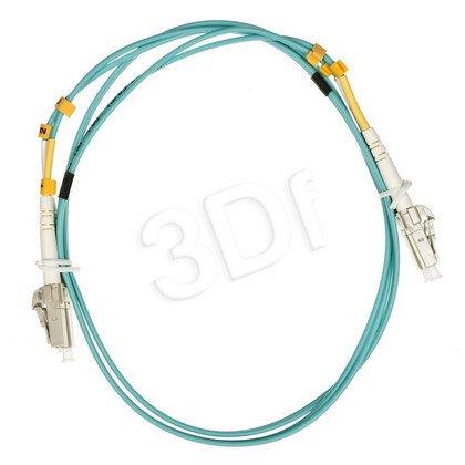 ALANTEC patchcord światłowodowy MM LSOH 1m OM3 LC-LC duplex 50/125 turkusowy