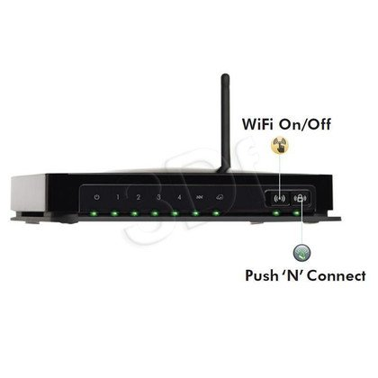 NETGEAR [ DGN1000 ] Wireless Router ADSL 150Mbps 802.11n [ Annex A ][ 4x 10/100Mbps Switch ]