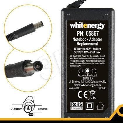 WHITENERGY ZASILACZ 19V/4.74A wtyk 7.4 X 5.0 + pin