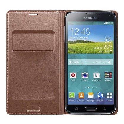 """Samsung Etui do telefonu Flip Wallet 5,1"""" Galaxy S5 złote"""