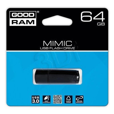 Goodram Flashdrive MIMIC 64GB USB 3.0 Czarny