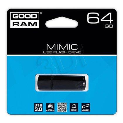 Goodram Flashdrive MIMIC 64GB USB 3.0 Czarny