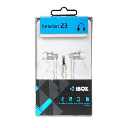 Słuchawki douszne z mikrofonem I-Box Z3 (biały)