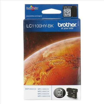 BROTHER Tusz Czarny LC1100HYBK=LC-1100HYBK, 123 str.
