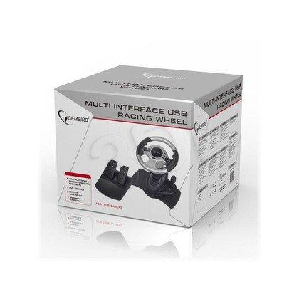 GEMBIRD KIEROWNICA STR-SHOCKFORCE-M Z WIBRACJAMI USB, KOMPATYBILNAZ XBOX/PS2/PC