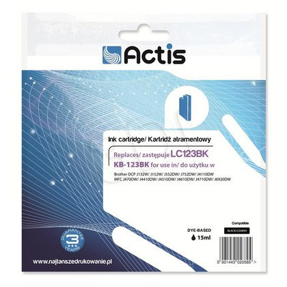 Actis KB-123Bk tusz czarny do drukarki Brother (zamiennik Brother LC123Bk) Standard