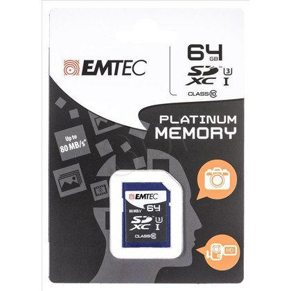 Emtec SDHC ECMSD64GXC10PL 64GB Class 10,UHS Class U3