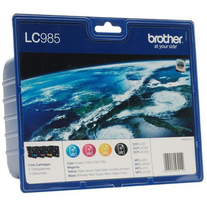 BROTHER Tusz LC985VALBP=LC-985VALBP, Zestaw CMYBk, LC985C+LC985M+LC985Y+LC985BK